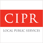 Logo red background and white text saying CIPR
